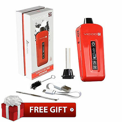 Atmos Portable VICOD 5G Red Compact Vaporizer New 2017 Edition With Free Gifts