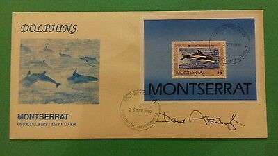Sir David Attenborough signed first day cover.