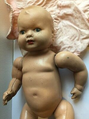 Vintage Bisque Baby Doll With Dress
