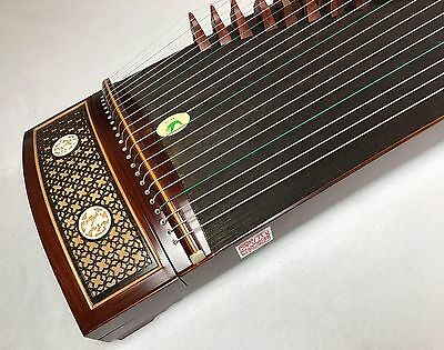 "Guzheng Chinese Zither Rosewood ""Ancient windows "" Professional Grade"