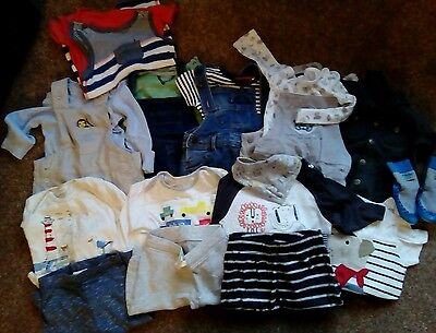 Large bundle of baby boys clothes age 3-6m outfits