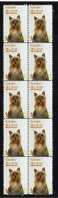 Silky Terrier Year Of Dog Strip Of  10 Mint Stamps 2