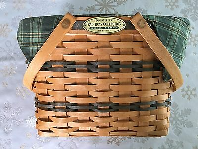 Longaberger Basket Traditions Collection Fellowship Basket 1997 Handwoven Wicker