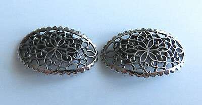 Very Pretty Vintage Pair Musi Filigree Shoe Clips