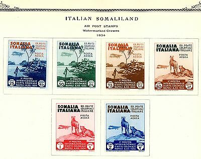 1934 SOMALIA Air Post Stamps #C1-C6 (6 Stamps) ALL MINT H