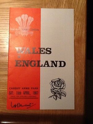 Wales V England  1967 Cardiff Arms Park - Nice Condition