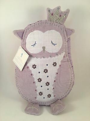 """Pottery Barn Kids Aria Shaped Owl Deco Pillow NEW 10"""" x 14"""""""