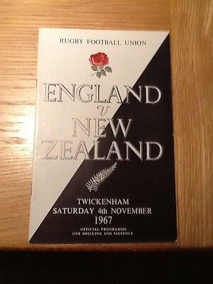 England V NEW ZEALAND 1967Twickenham  Nice Condition