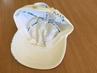 Girl's Cap Baseball Style O'Neill One Size Fits All Adjustable White With Drop