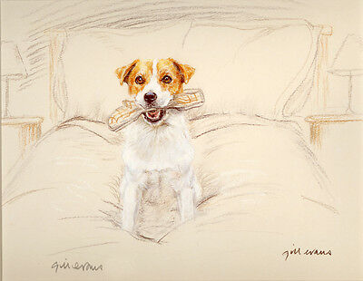 JACK RUSSELL TERRIER JRT DOG LIMITED EDITION PRINT - Signed Artist Proof # 18/85