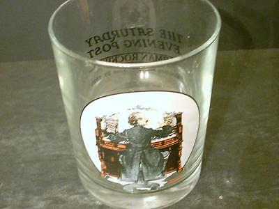 "Norman Rockwell Saturday Evening Post ""wedding March"" Tumbler Glass(J8)"
