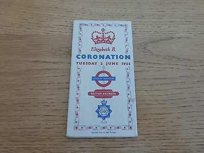 1953 June 2 Coronation London Transport Map And Guide Original Inc Underground
