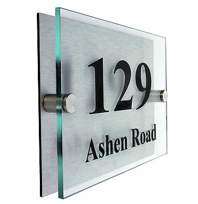 House Numbers  - DESIGN YOUR OWN ON LINE-  2 part acrylic plaques