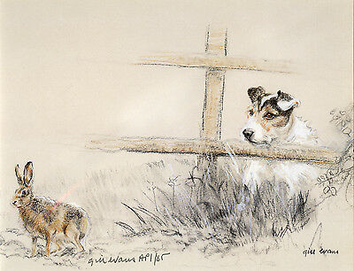 JACK RUSSELL TERRIER DOG LIMITED EDITION PRINT - Signed Artist Proof # 18/85