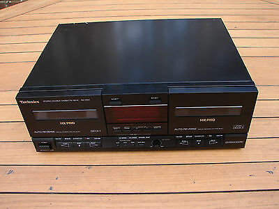 Technics RS-X901 Double Cassette Deck Player Recorder HX Pro Dolby Global Ship