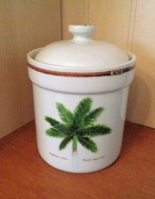 """Palm Island By Florida Marketplace 6.25"""" Coffee Canister & Lid, Exc"""