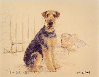 """AIREDALE TERRIER DOG FINE ART LIMITED EDITION PRINT - """"Tough as Old Boots"""""""