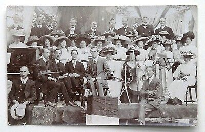 Edwardian RP Postcard: MIXED GENDER ORCHESTRA c.1910 - 1915