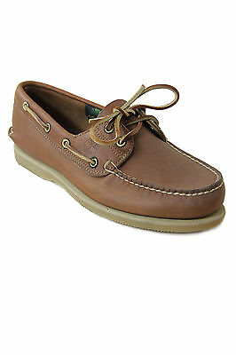 Timberland Vintage Leather Boat Shoes 85077 Maple Made in U.S.A.