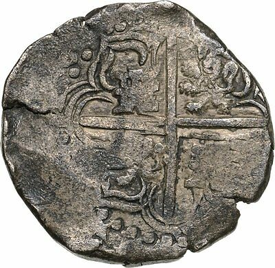 Philipp IV Colonial Spain 8 REALES COB 1621-1665  MEXICO CITY