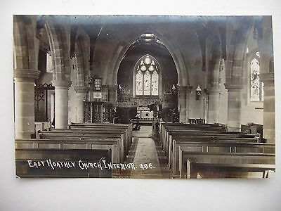 East Hoathly Church Interior - vintage real photograph