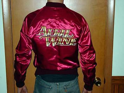 APRIL WINE 1981 - EMBROIDERED satin TOUR JACKET - Capitol Records - Fad Times