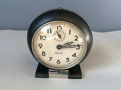 Antique Westclox Baby Ben Alarm Clock 61R Vintage Industrial Still Works