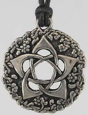 Garden Pentagram Amulet Pendant Necklace!