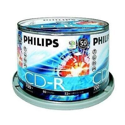Philips CD-R 80 Minutes 700MB 52X Vitesse Enregistrable Disques Vierges