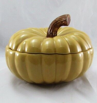 Large Williams-Sonoma Covered Pottery Pumpkin Soup Tureen