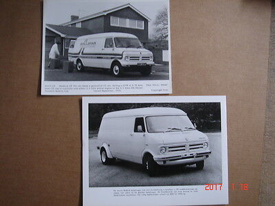 BEDFORD  CF Van  2 original press photos  1967.