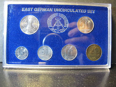 1982-1990 East Germany & 1990 Unified Uncirculated Sets Mixed Dates, Nice