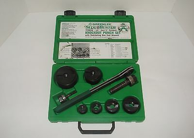 """Greenlee Slug Buster Knockout Punch Set Ratcheting Wrench Driver 1/2"""" to 2"""""""