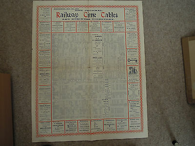 Kent (Medway, Chatham) Railway timetable poster 1902 supplement to Journal