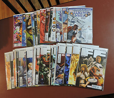 Fantastic Four #600-611 + F.F. #1-23 complete set Hickman NM