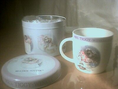 Beatrix Potter Queen's MrsTiggy Winkle 2011 Cup in a Tin Frederick Warne