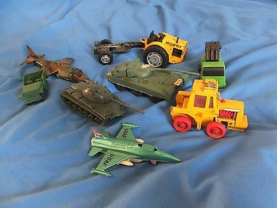job lot of old die-cast and plastic toys