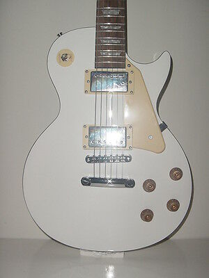 NEW Full Size 6 String  Elecdtric Guitar LP White with Gig Bag Stedman Pro