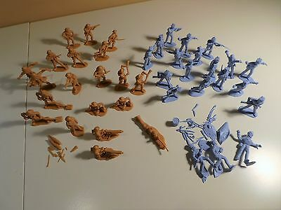 Collection of Vintage Plastic Toy Soldiers (1970's)