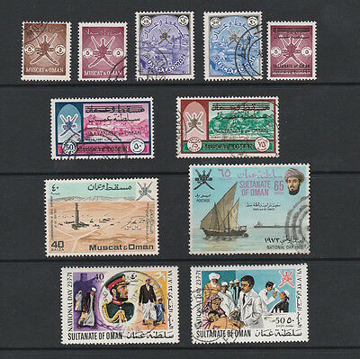 Muscat & Oman & Early Sultanate Selection Of Stamps Including Overprints (11)