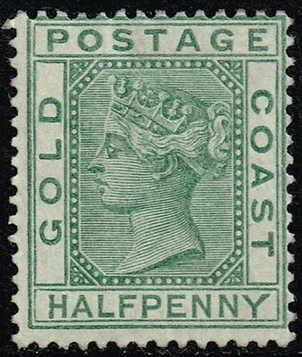 Gold Coast 1884-91 ½d. green, MH (SG#11)