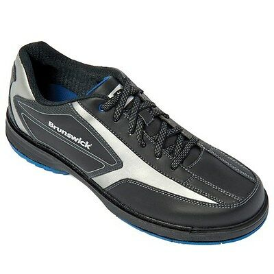 Brunswick Mens Stealth Black/Graphite RH size  10.5  bowling shoes NEW IN BOX.