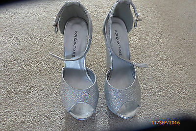 Ladies Silver Shoes/Wedges Size 3