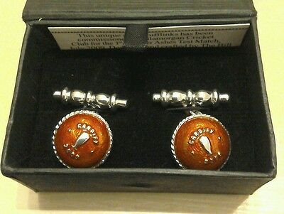 Ashes 2009 Commemorative Cufflinks 1st nPower Test Cardiff