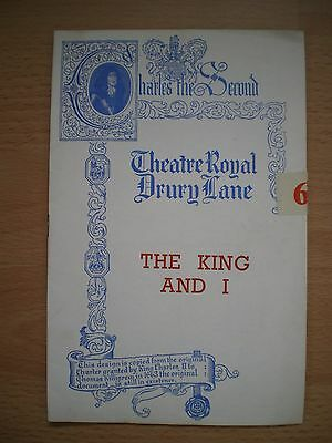 The King And I Theatre Programme - Theatre Royal Drury Lane