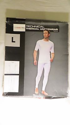 Mens Winter White Short Sleeve BASE LAYER THERMALS Size Large BNWT