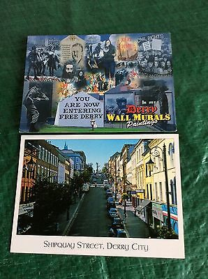 2 X Postcards Of Derry Londonderry (Unposted)