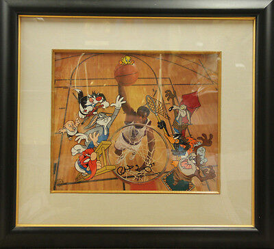 Warner Brothers Patrick Ewing Space Jam Signed Cel Legendary Big Man Only 500 WB