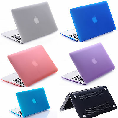 """Hard Case & Rubberized keyboard Cover For Macbook Pro / Air 11"""" 12"""" 13"""" 15  inch"""
