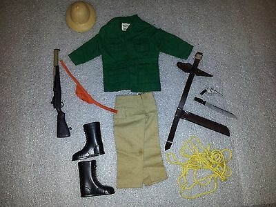 Vintage Action Man Jungle Explorer Outfit And Accessories